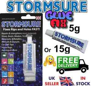 Stormsure Flexible Repair Adhesive 5g or 15G Rubber/ Tent/Awning Rips Holes