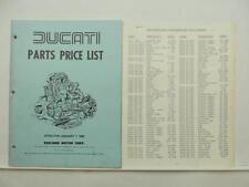 Vintage 1980 Ducati Parts Price List SD 900 SS Super Sport L6522