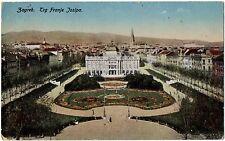 CPA CROATIE - ZAGREB. Trg Franje Josipa