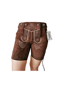 "Exklusive kurze Damen Lederhose Hotpants ""Susi"" (braun)"