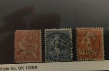 France #134, 141, 170 Used, Perf Faults (SCV=$3.40)