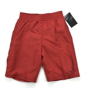 Nike NEW Boy's Big Swoosh Volley Board Shorts Swim Trunks Red ness9717-614 Large
