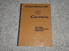 1984 Porsche 911 Carrera Assembling Adjusting & Service Repair Shop Manual 1985