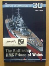 The Battleship HMS Prince of Wales - Super Drawings in 3D - Kagero N*E*W!
