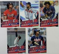 2020 Topps Update RONALD ACUNA JR Highlights Lot of 5 Target Exclusive
