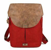 zwei Olli O12 Rucksack Laptoptasche Tasche Chili Rot Braun Neu