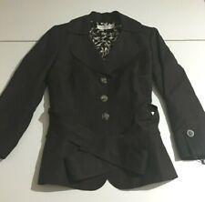 Tahari Arthur S Levine Womens Brown Blazer Suit Jacket Size 2P Petite