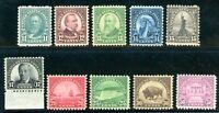 USAstamps Unused VF US 1931 Rotary Printings Complete set Scott 692 - 701 OG MNH