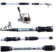 Combo Canna Pesca Spinning Vento 2.10m 10/30g + Mulinello Kaya Trota Bass Travel