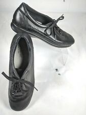 SAS Womens Traveler Black Leather Lace Up Oxford Walking Shoes Size 9.5 S Narrow