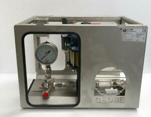 GLOBE TEST EQUIPMENT APU SC-10-5-5 PNEUMATIC AIR PRESSURE TEST PUMP 35 BAR
