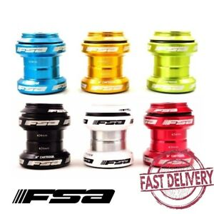 "FSA Orbit MX Threadless Bike Headset 1-1/8"" 34mm with Top Cap by 6 Colors"
