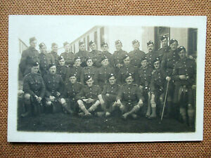 MILITARY RP.The London Scottish Regiment. Group Photo WW1 era.