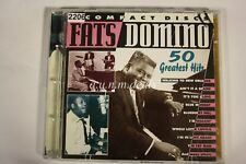 50 Greatest Hits by Fats Domino (Antoine Dominique Domino Jr.) (CD, Mar-2000,...