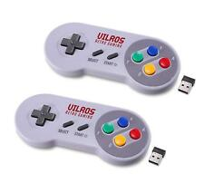 Vilros Retro Gaming Classic SNES Style Wireless USB Gamepads-Set of 2