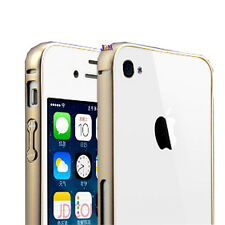 Ultra Thin Aluminum Metal Frame Bumper Cover Case Skin For iphone 4