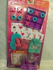"""New - """"My Life As"""" Bingo + Game Night Play Set For 18"""" Dolls 27 Pieces"""