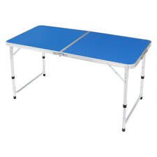 Aluminum Folding Table Height Adjustable Portable Camping Table Indoor/Outdoor U