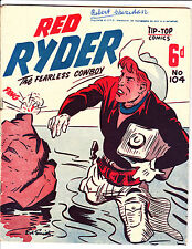 "Red Ryder No 104 1950's -Australian-""Standing In River Cover ! """