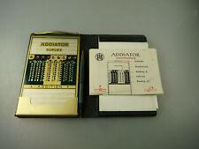 Zahlenschieber-Rechner Addiator Typ Duplex Luxus-Etui ab 1950 (64468)