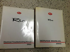 2002 KIA Rio Service Repair Shop Repair Manual FACTORY W Electrical Wiring Book