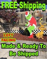 GRINCH Stealing CHRISTMAS Lights Yard Art LEFT Facing Grinch & MAX FREE SHIPPING