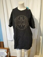 Kinetix Batman Crew Neck Graphic T Shirt Black Size Large