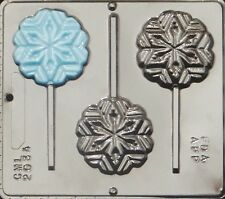 Snowflake Lollipop Chocolate Candy Mold Christmas  2034 NEW