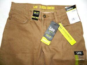 Lee Sport Series Straight Fit Denim Brown Jeans Tag 12 Husky Fit 29x26 NEW