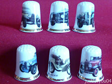 Set of 6 Vintage/Classic Cars (Gold Gilded) Collectors Thimbles