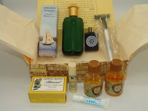 RARE NEW! Caswell-Massey Sampler After Shave Razor Soap Balm Hand Cream Cologne