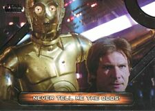 Star Wars Galactic Files Reborn Famous Quotes Chase Card MQ-7 Never tell me