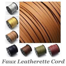 Faux Leather Leatherette Flat Cord Thong Necklace Bracelet Choose Colour Length
