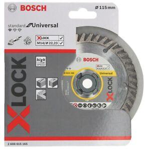 Bosch X LOCK 115mm x 22.23mm Diamond Rim Cutting Disc, Brick , Concrete , Stone.