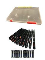 10 POLE RIGS IN BOX  NGT Pole Float Carp Coarse Fishing Tackle Barbless hooks