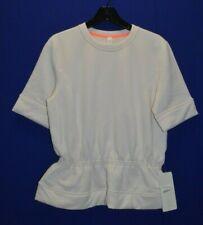 Lululemon Peplum Pullover Polartec Top Neautral Blush Short Sleeve Size 8 NWT