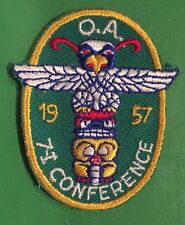1957 Area 7 I Conclave Conference Patch Mint