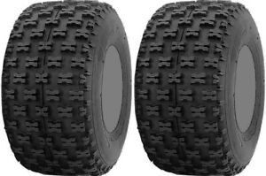 Pair 2 ITP Holeshot 20x11-8 ATV Tire Set 20x11x8 20-11-8