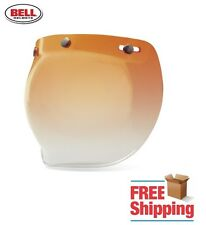 BELL CUSTOM 500 R/T SHORTY AMBER GRADIENT TINT BUBBLE FACE SHIELD FREE SHIPPING