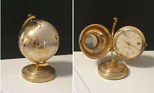 Ancien et Rare Globe Terrestre Reveil Mécanique RHYTHM