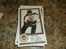 1982-83 VICTORIA COUGARS PAUL CYR WHL PLAYER CARD
