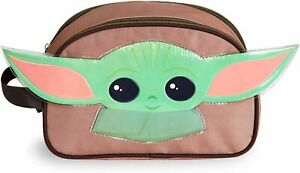 Star Wars Toiletry Bag for Boys, Wash Bag with The Mandalorian Baby Yoda 3D Ears