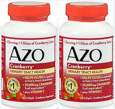 AZO Cranberry, Maximum Strength, Softgels 100 ea  ( 2 pack ) PHARMACY FRESH!!