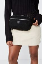 Factorie Womens Sherpa Bumbag Bags  In  Black