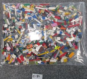 LEGO® - 1,0 kg - Auction - Printed/Sticker-Parts - C-84 - Glatte Teile/Fliesen b