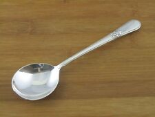"International Adoration Round Bowl Gumbo Soup Spoon 7 1/8"" Rogers Silverplate"