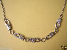 Antike echt Silber Kette mit 5 Elementen Silber Schmuck 7,1 g / Länge 40,5 cm