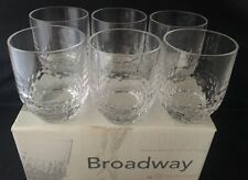 Nachtmann German Crystal Broadway Whiskey Tumbler Old Fashion Set Of 6 New