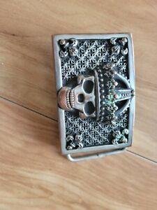 Trafalgar Rhodium Over Solid Sterling Silver 1 3//16 inch Buckle