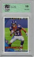 Eric Decker 2010 Topps Rookie Card #151 Denver Broncos PGI 10